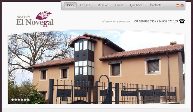 Desarrollo web de casa rural